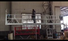 100m steel wire rope, aluminium 800kg ZLP 800 Aerial suspended platform with hot galvanized