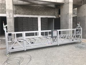 single phase suspended wire rope platform 800 kg 1.8 kw, lifting speed 8 -10 m / min